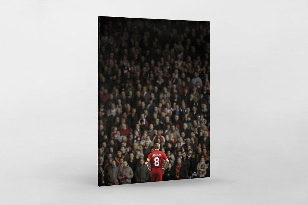 Gerrard vor den Fans (Covermotiv 11FREUNDE #159) als Leinwand auf Keilrahmen gezogen