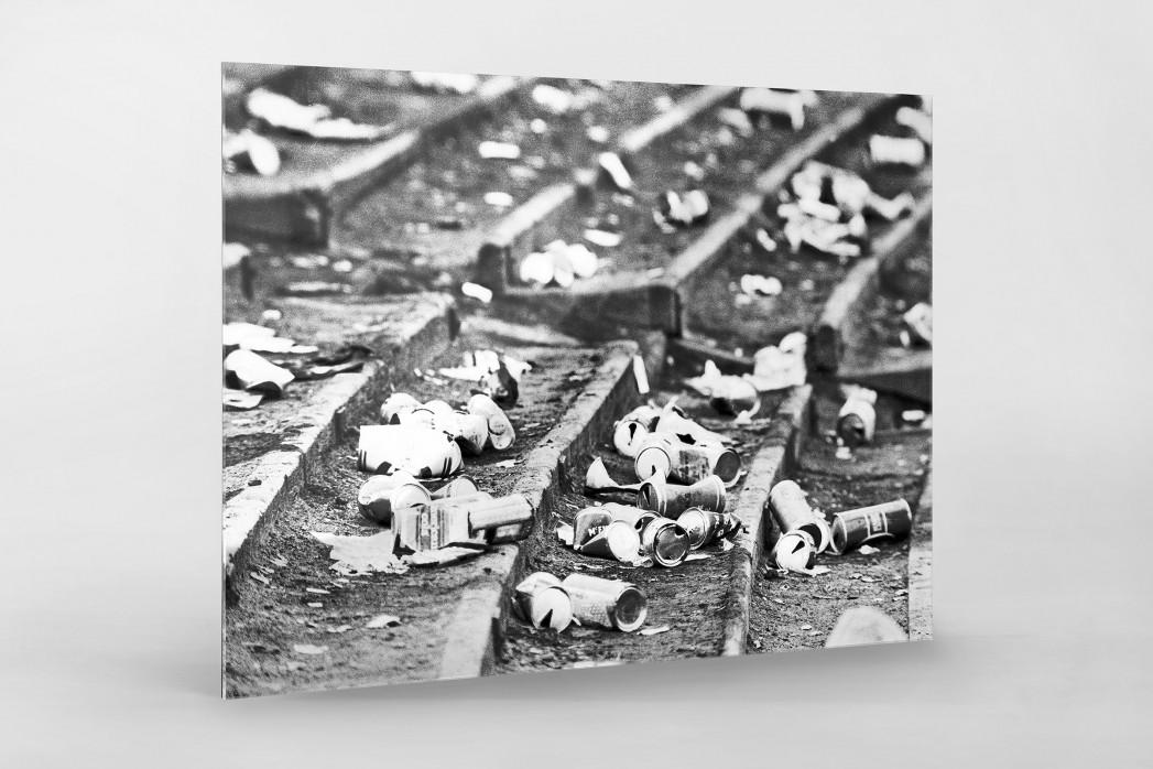 Dosenbier im Hampden Park als Direktdruck auf Alu-Dibond hinter Acrylglas