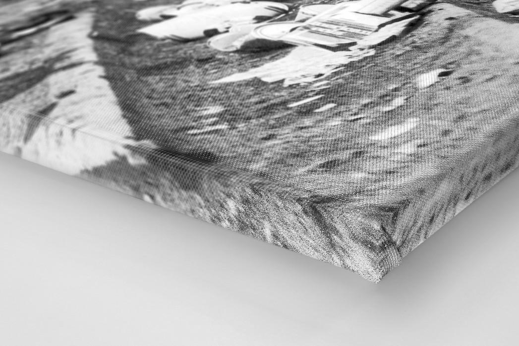 Dosenbier im Hampden Park als Leinwand auf Keilrahmen gezogen (Detail)