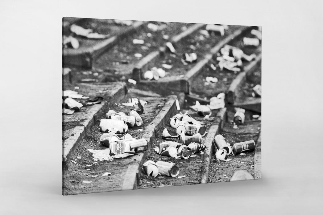 Dosenbier im Hampden Park als Leinwand auf Keilrahmen gezogen