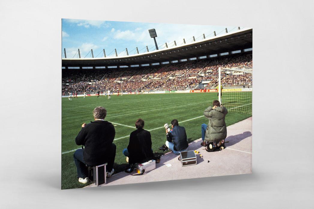 Im Rheinstadion 1983 als auf Alu-Dibond kaschierter Fotoabzug