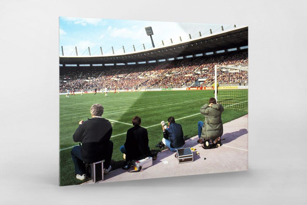 Im Rheinstadion 1983 als Direktdruck auf Alu-Dibond hinter Acrylglas