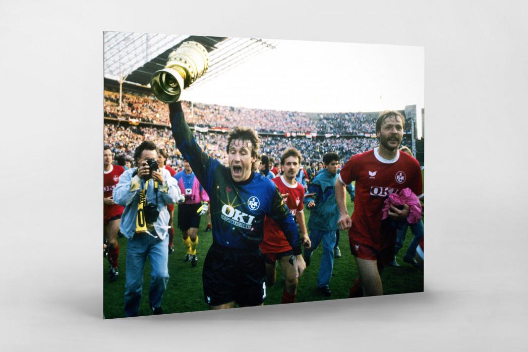 Lauterer Pokaljubel 1990 (2) als auf Alu-Dibond kaschierter Fotoabzug