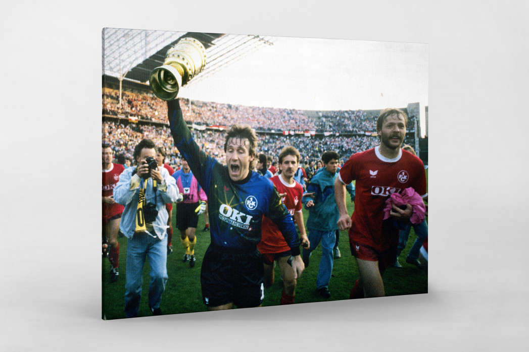 Lauterer Pokaljubel 1990 (2) als Leinwand auf Keilrahmen gezogen