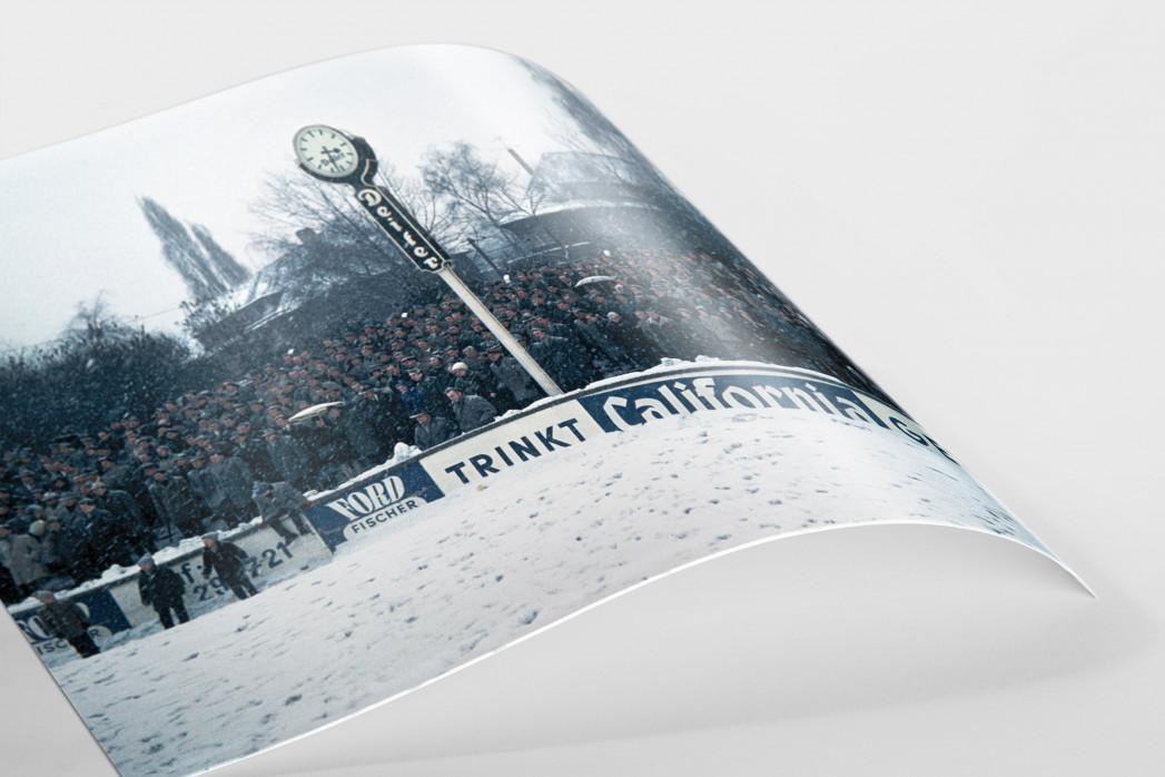 Schnee im Stadion am Uhlenkrug als FineArt-Print
