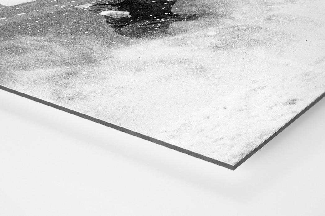 Schnee in Liverpool als auf Alu-Dibond kaschierter Fotoabzug (Detail)