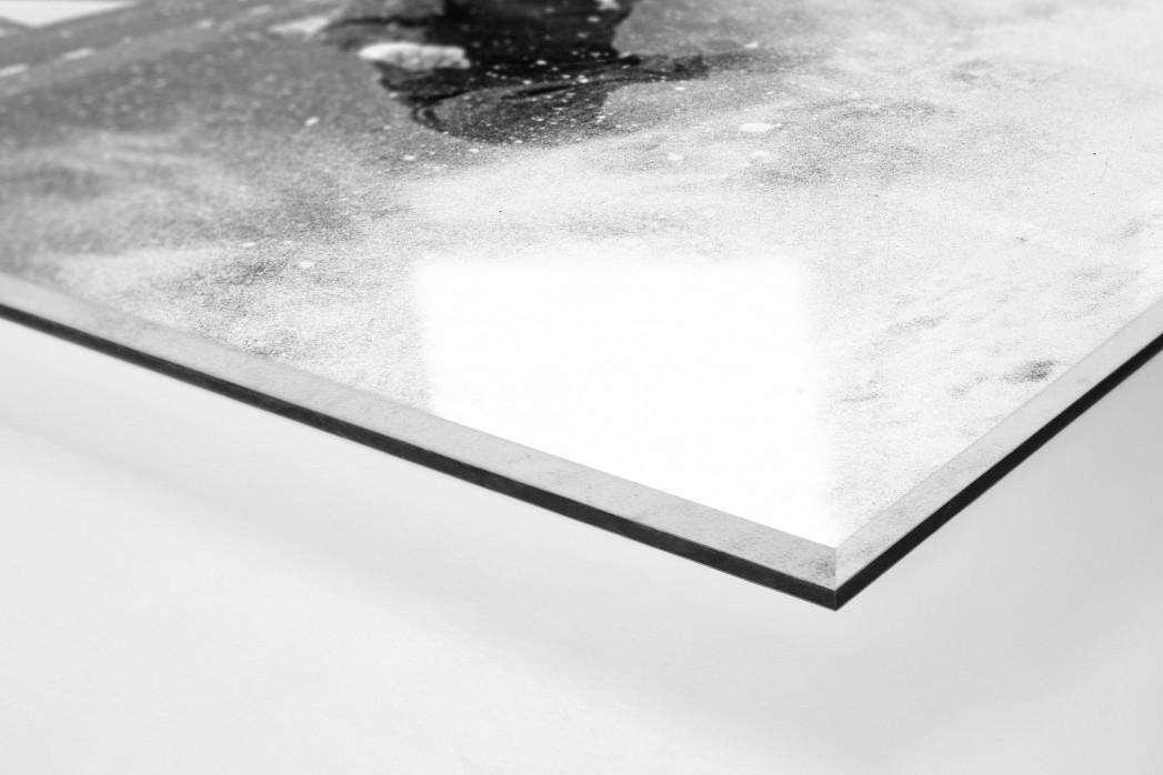 Schnee in Liverpool als Direktdruck auf Alu-Dibond hinter Acrylglas (Detail)