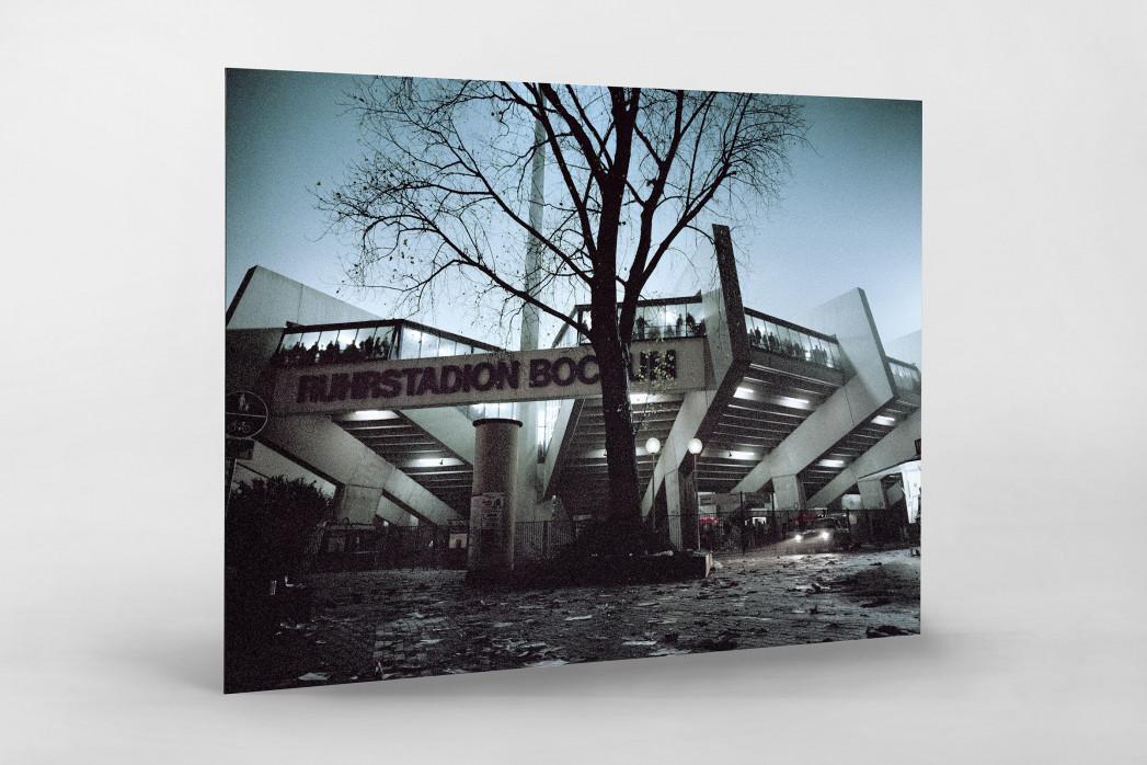 Ruhrstadion bei Flutlicht (Farbe) als auf Alu-Dibond kaschierter Fotoabzug