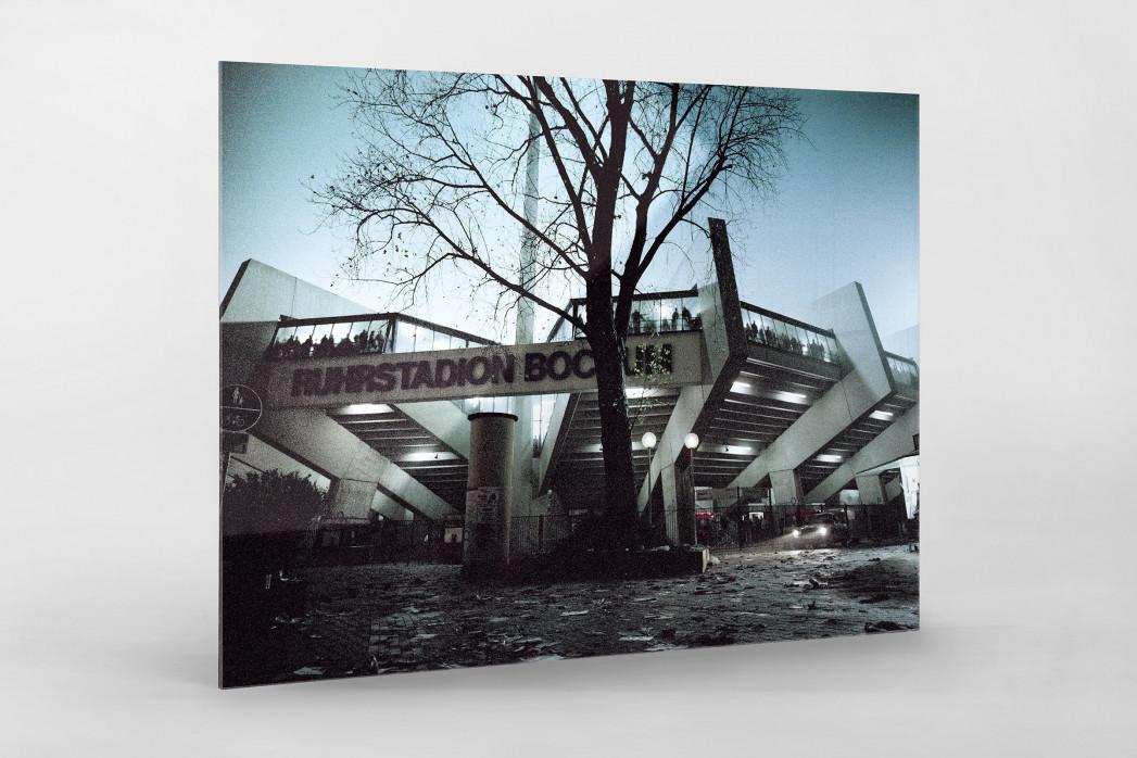 Ruhrstadion bei Flutlicht (Farbe) als Direktdruck auf Alu-Dibond hinter Acrylglas