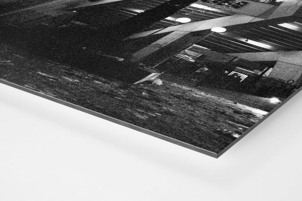 Ruhrstadion bei Flutlicht (SW) als auf Alu-Dibond kaschierter Fotoabzug (Detail)