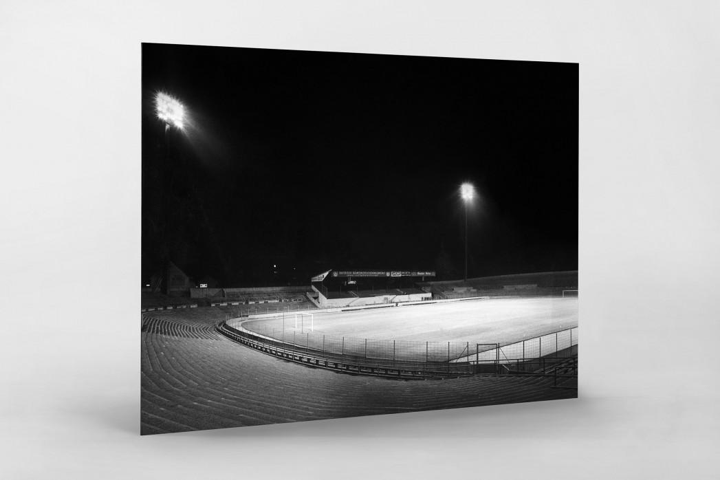 Flutlichtanlage Stadion an der Grünwalder Str. als auf Alu-Dibond kaschierter Fotoabzug