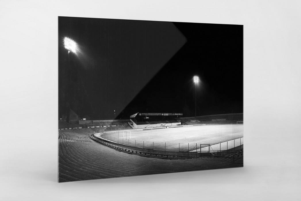 Flutlichtanlage Stadion an der Grünwalder Str. als Direktdruck auf Alu-Dibond hinter Acrylglas