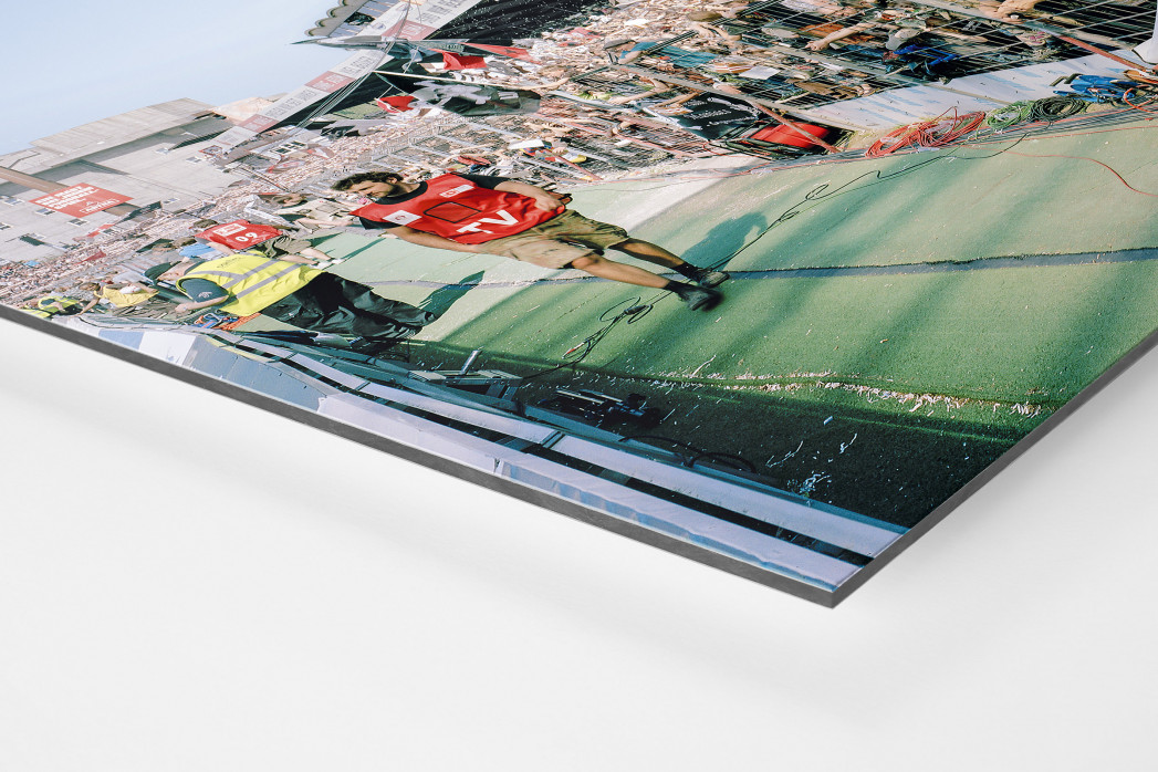Gegengerade Millerntor 2012 als auf Alu-Dibond kaschierter Fotoabzug (Detail)