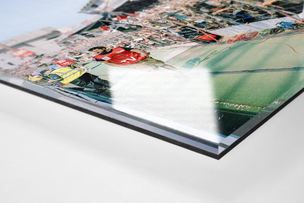 Gegengerade Millerntor 2012 als Direktdruck auf Alu-Dibond hinter Acrylglas (Detail)