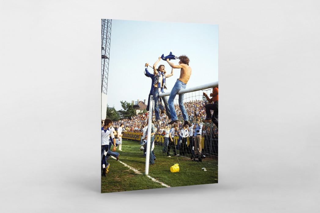HSV Fans auf dem Tor als auf Alu-Dibond kaschierter Fotoabzug