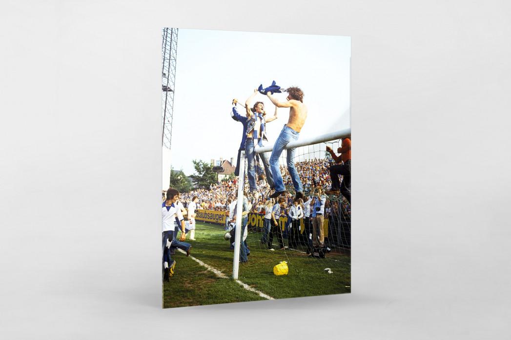 HSV Fans auf dem Tor als Direktdruck auf Alu-Dibond hinter Acrylglas