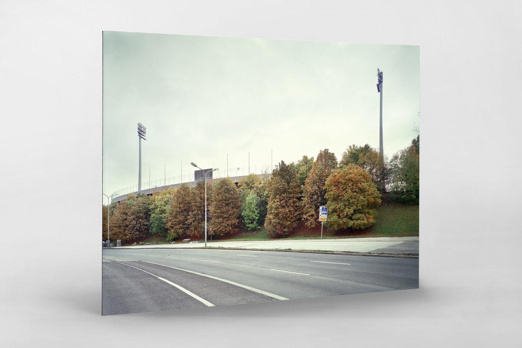 Witness Of Glory Times: München, Stadion an der Grünwalder Straße als auf Alu-Dibond kaschierter Fotoabzug