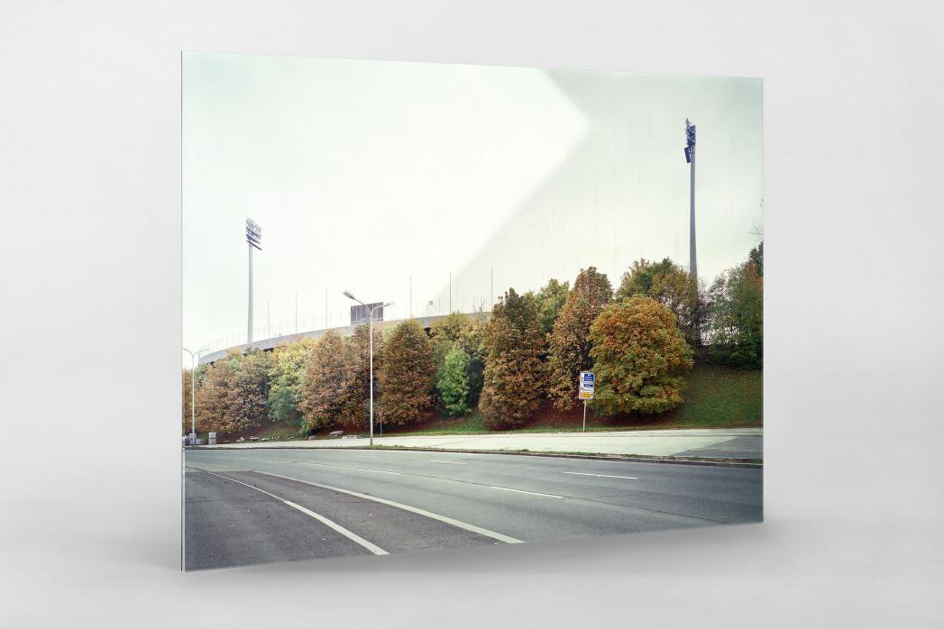 Witness Of Glory Times: München, Stadion an der Grünwalder Straße als Direktdruck auf Alu-Dibond hinter Acrylglas