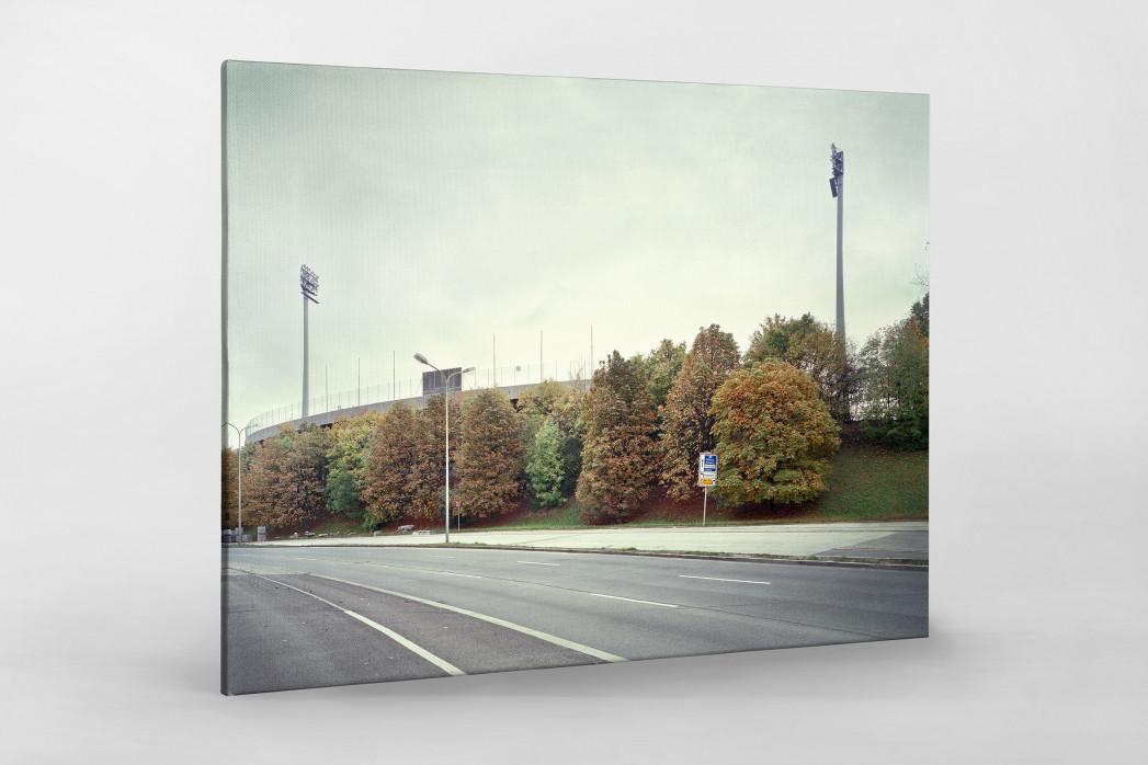 Witness Of Glory Times: München, Stadion an der Grünwalder Straße als Leinwand auf Keilrahmen gezogen