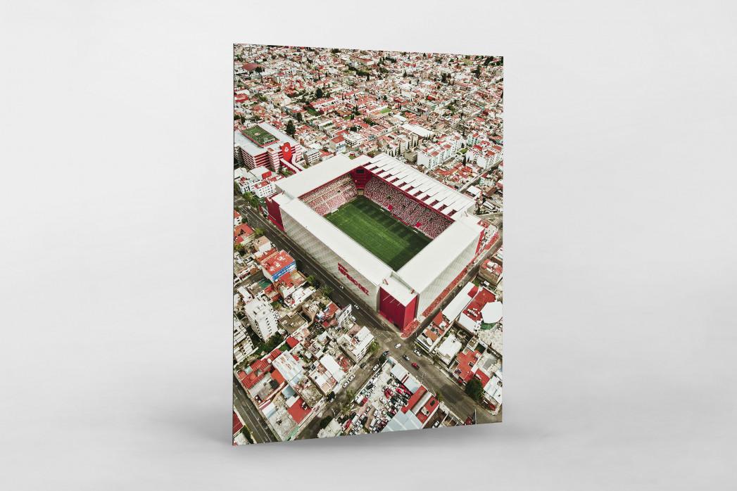Stadion in Toluca als auf Alu-Dibond kaschierter Fotoabzug