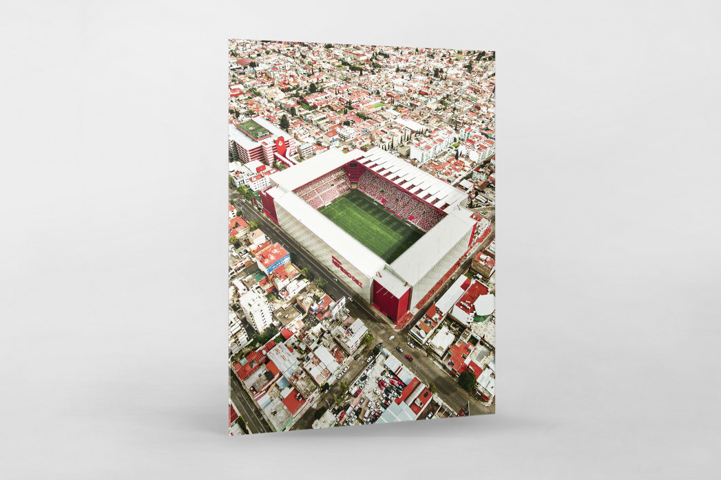 Stadion in Toluca als Direktdruck auf Alu-Dibond hinter Acrylglas