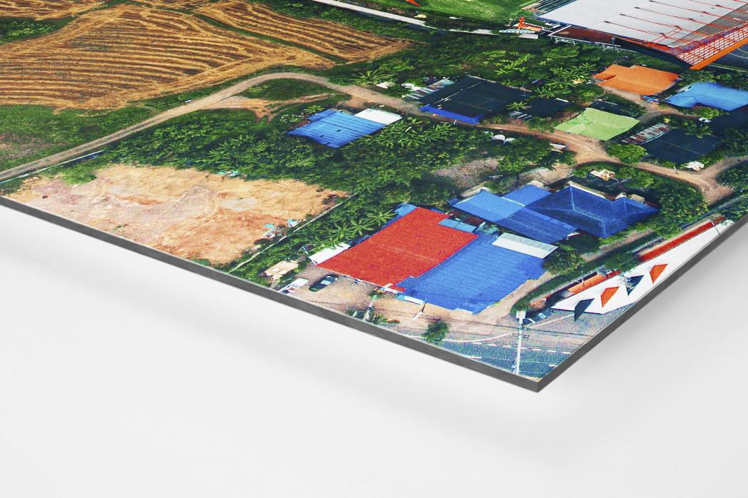 Vogelperspektive Mitr Phol Stadium als auf Alu-Dibond kaschierter Fotoabzug (Detail)