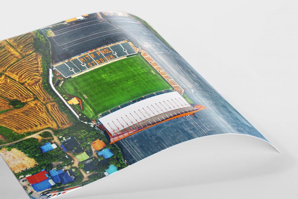 Vogelperspektive Mitr Phol Stadium als FineArt-Print