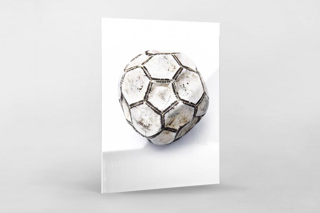 Alter Ball als Direktdruck auf Alu-Dibond hinter Acrylglas