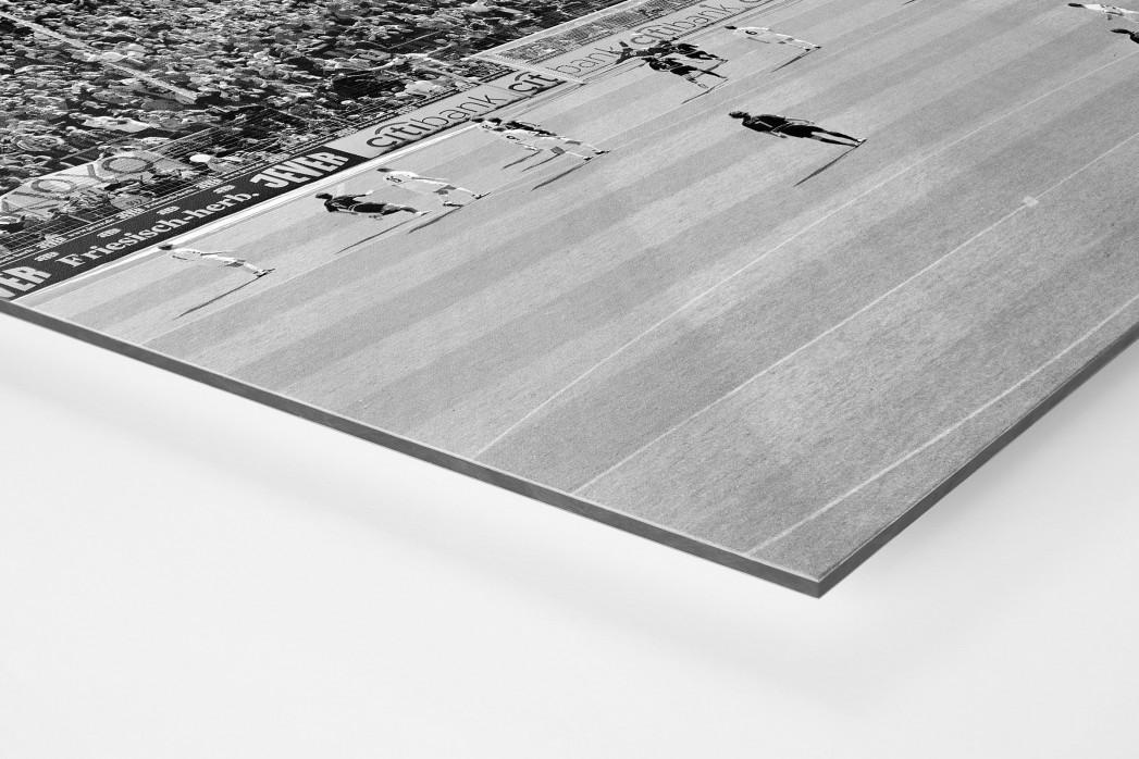 Blick auf die Südtribüne als auf Alu-Dibond kaschierter Fotoabzug (Detail)