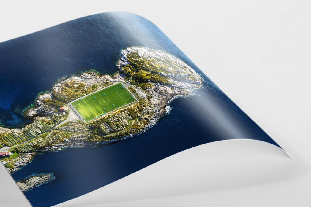 Fußballplatz auf den Lofoten als FineArt-Print