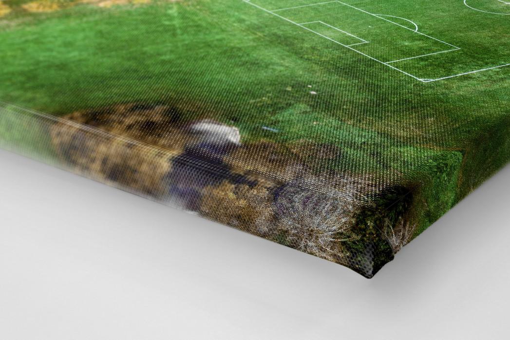 Fußballplatz in Shrewsbury als Leinwand auf Keilrahmen gezogen (Detail)