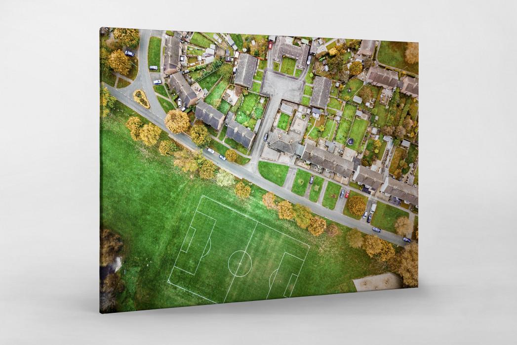 Fußballplatz in Shrewsbury als Leinwand auf Keilrahmen gezogen