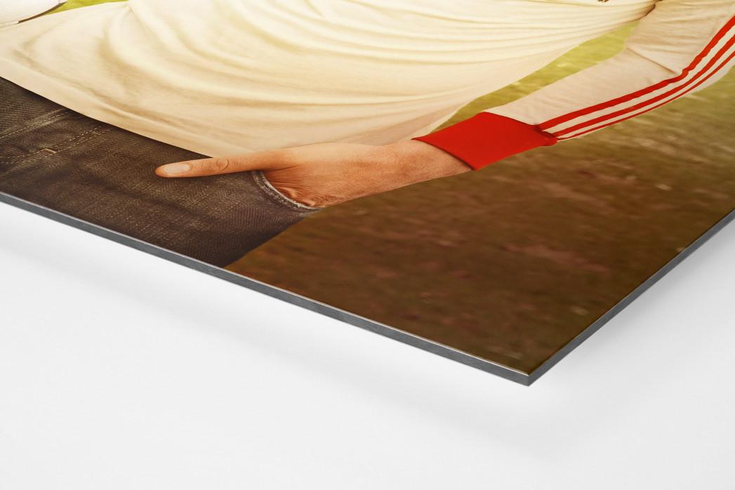 Lukas Podolski als auf Alu-Dibond kaschierter Fotoabzug (Detail)