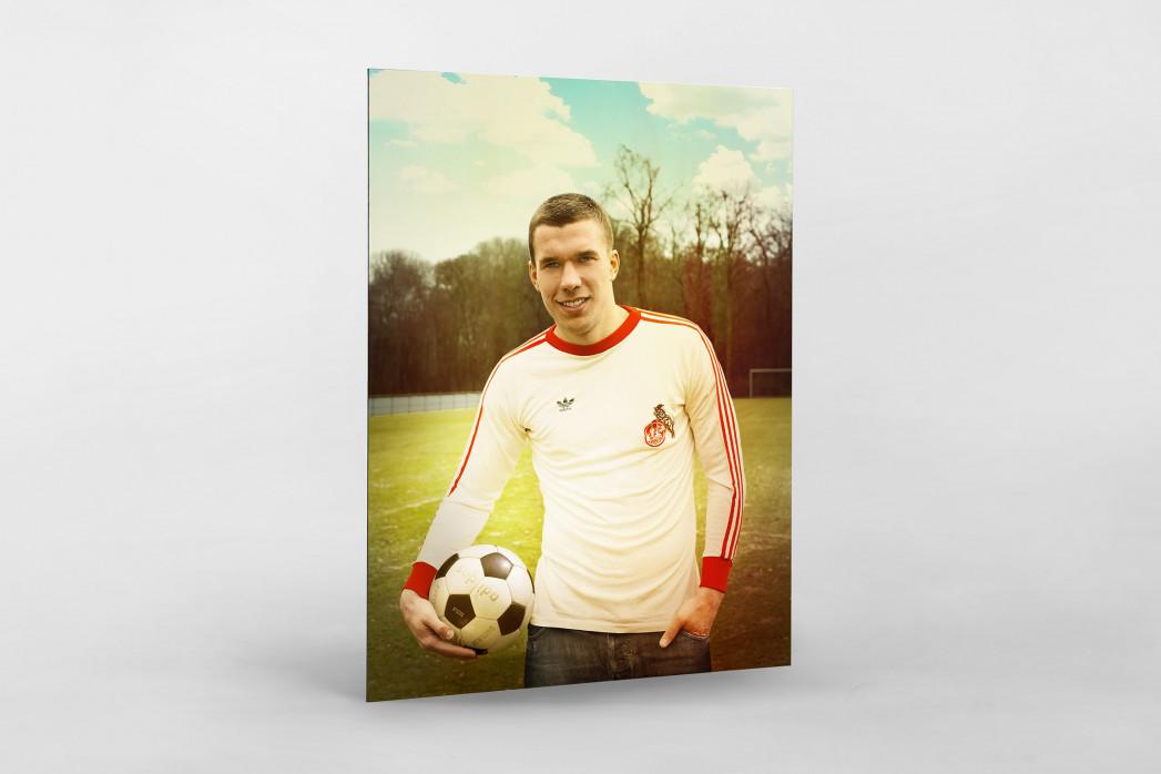 Lukas Podolski als auf Alu-Dibond kaschierter Fotoabzug