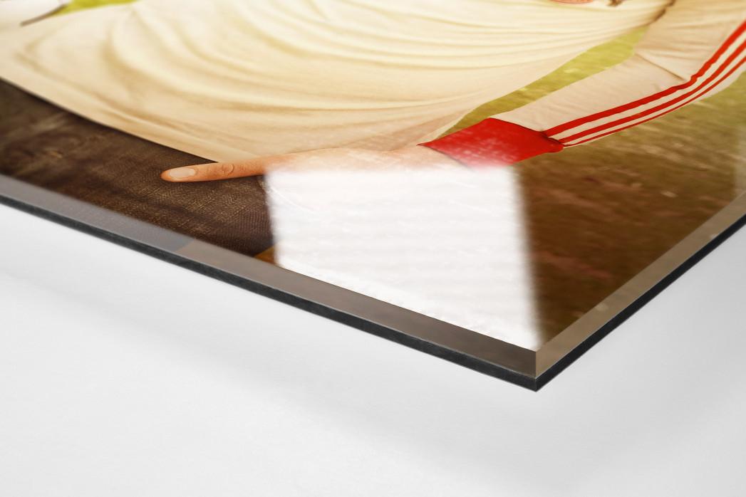Lukas Podolski als Direktdruck auf Alu-Dibond hinter Acrylglas (Detail)