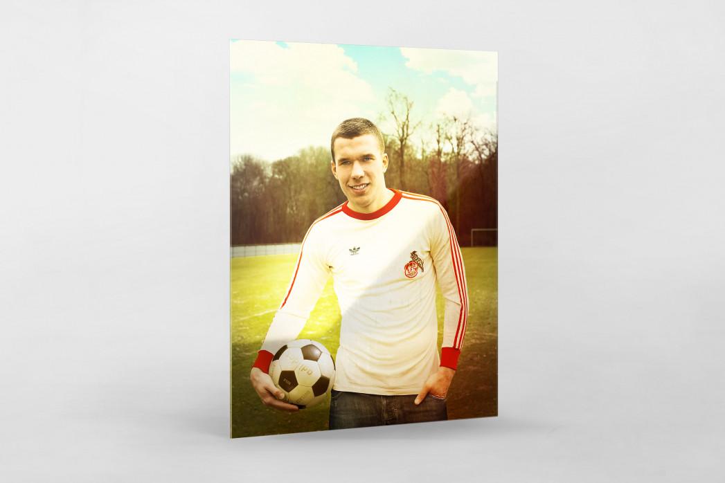 Lukas Podolski als Direktdruck auf Alu-Dibond hinter Acrylglas