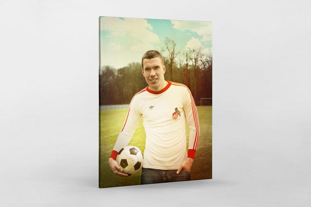 Lukas Podolski als Leinwand auf Keilrahmen gezogen