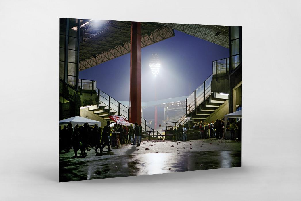 Westfalenstadion nach dem Spiel als auf Alu-Dibond kaschierter Fotoabzug