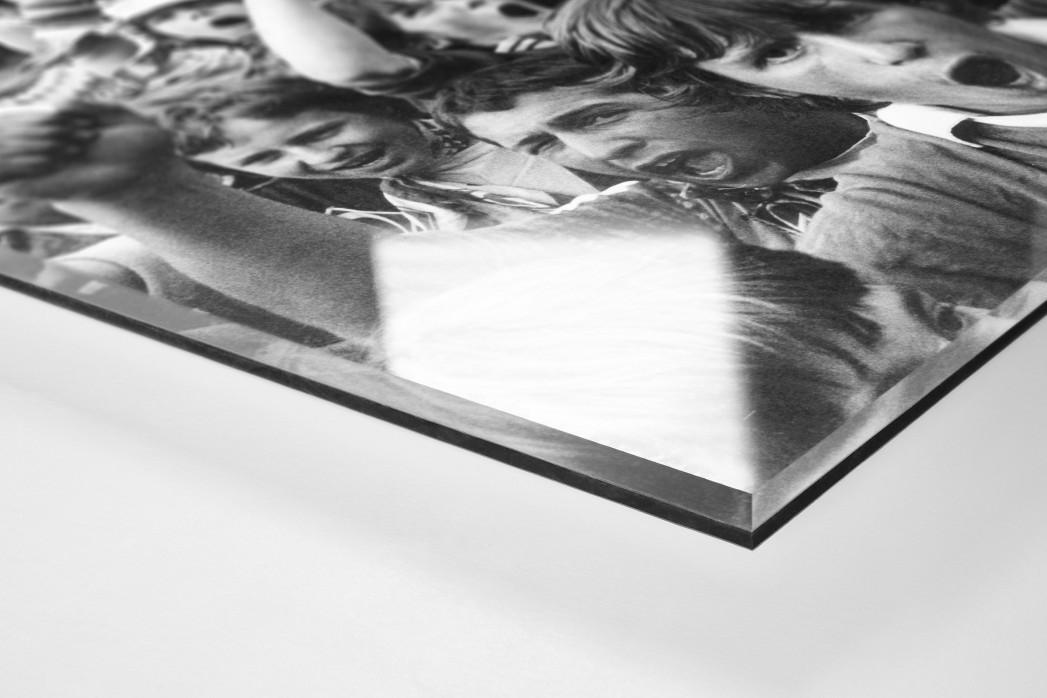 Bremen Fans 1983 als Direktdruck auf Alu-Dibond hinter Acrylglas (Detail)
