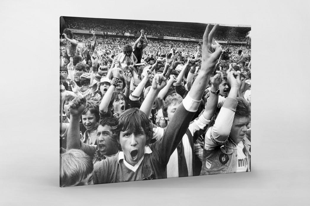 Bremen Fans 1983 als Leinwand auf Keilrahmen gezogen