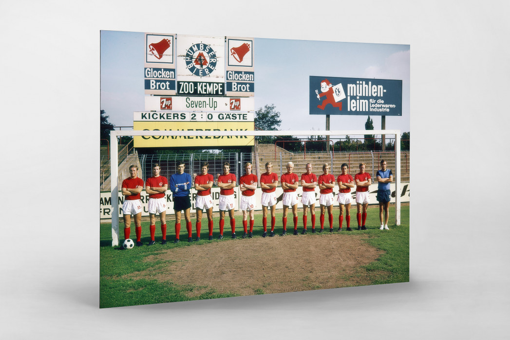 Offenbach 1970/71 als auf Alu-Dibond kaschierter Fotoabzug