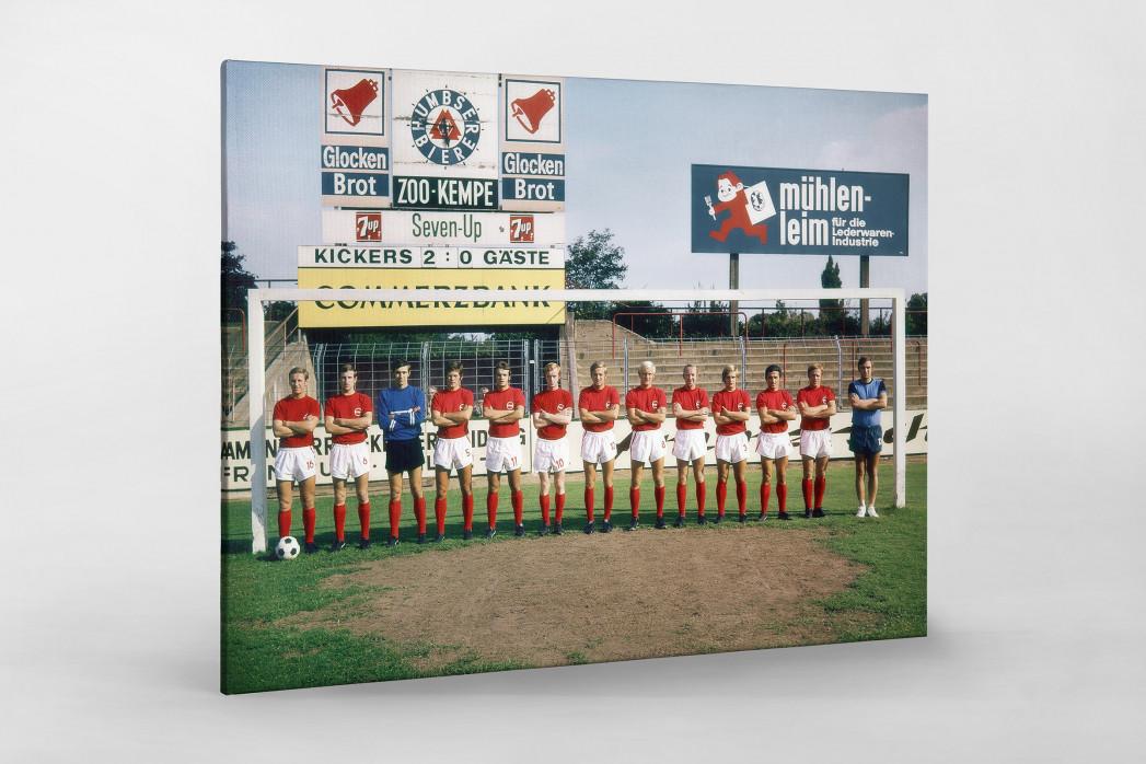 Offenbach 1970/71 als Leinwand auf Keilrahmen gezogen