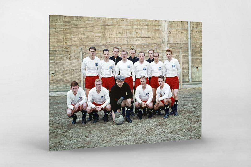 HSV 1961/62 als auf Alu-Dibond kaschierter Fotoabzug