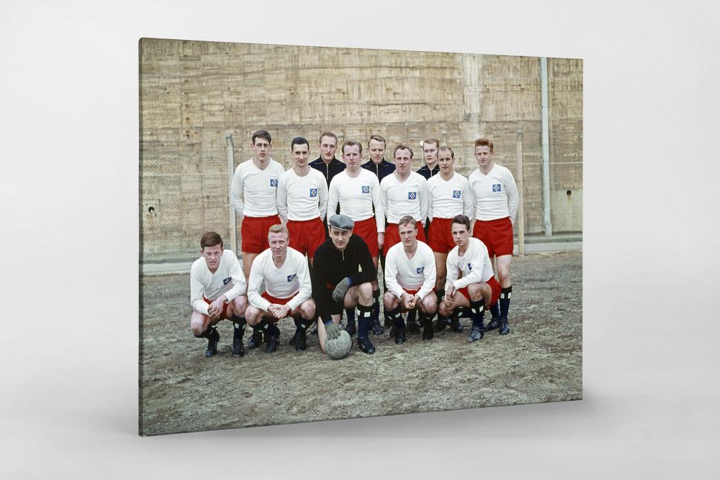 HSV 1961/62 als Leinwand auf Keilrahmen gezogen