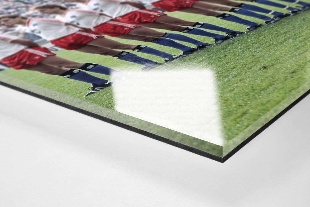 HSV im Pokalfinale als Direktdruck auf Alu-Dibond hinter Acrylglas (Detail)