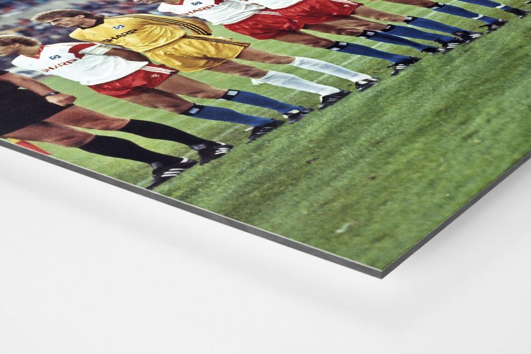 HSV im Waldstadion als auf Alu-Dibond kaschierter Fotoabzug (Detail)