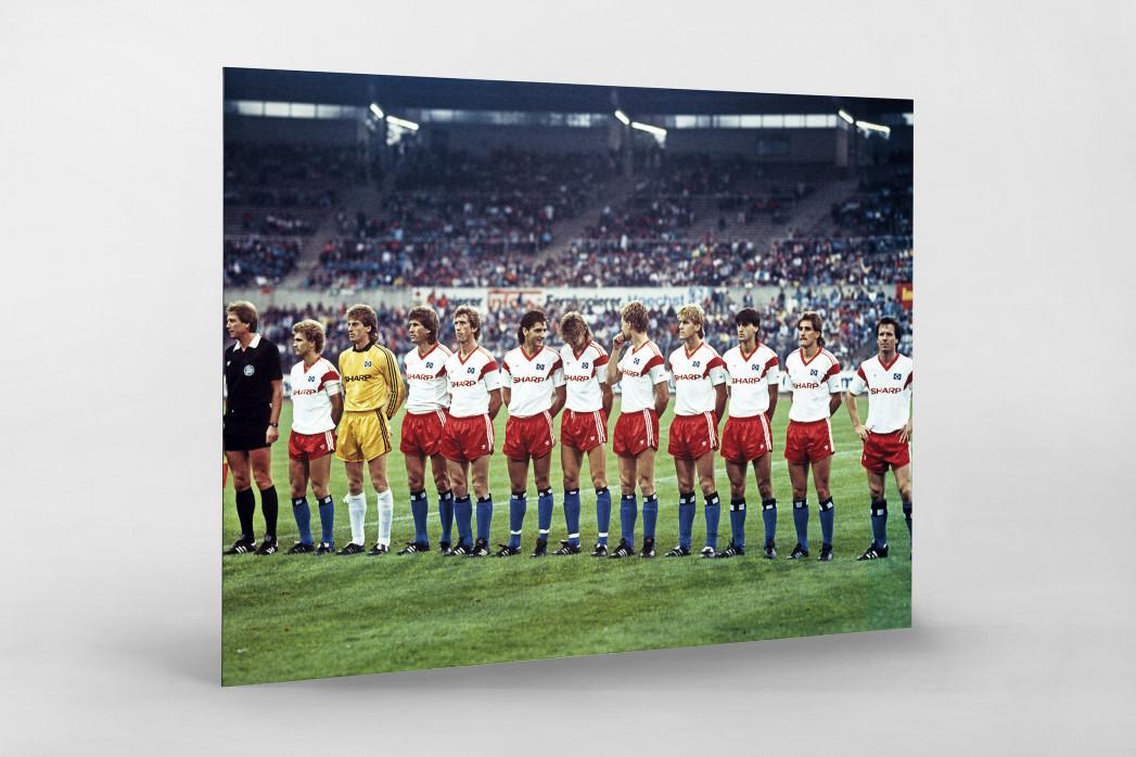HSV im Waldstadion als auf Alu-Dibond kaschierter Fotoabzug