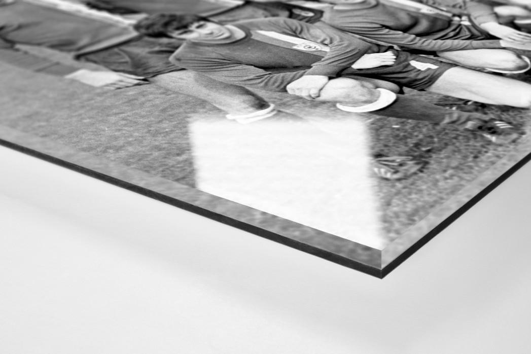 Halle 1972 als Direktdruck auf Alu-Dibond hinter Acrylglas (Detail)
