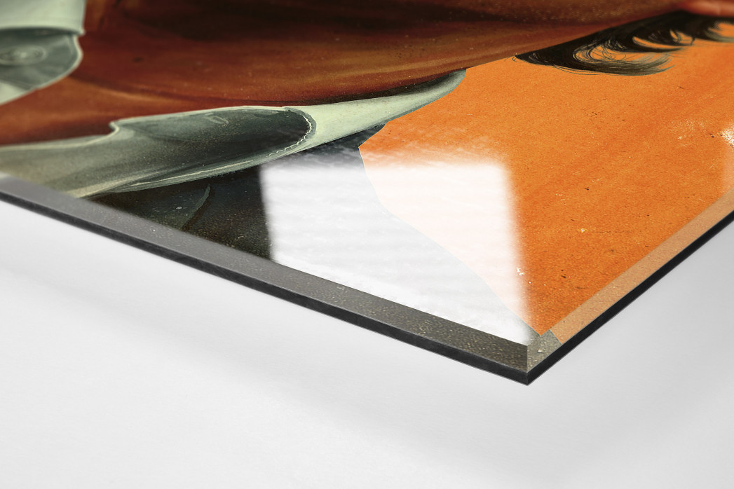 Peter Neururer als Direktdruck auf Alu-Dibond hinter Acrylglas (Detail)