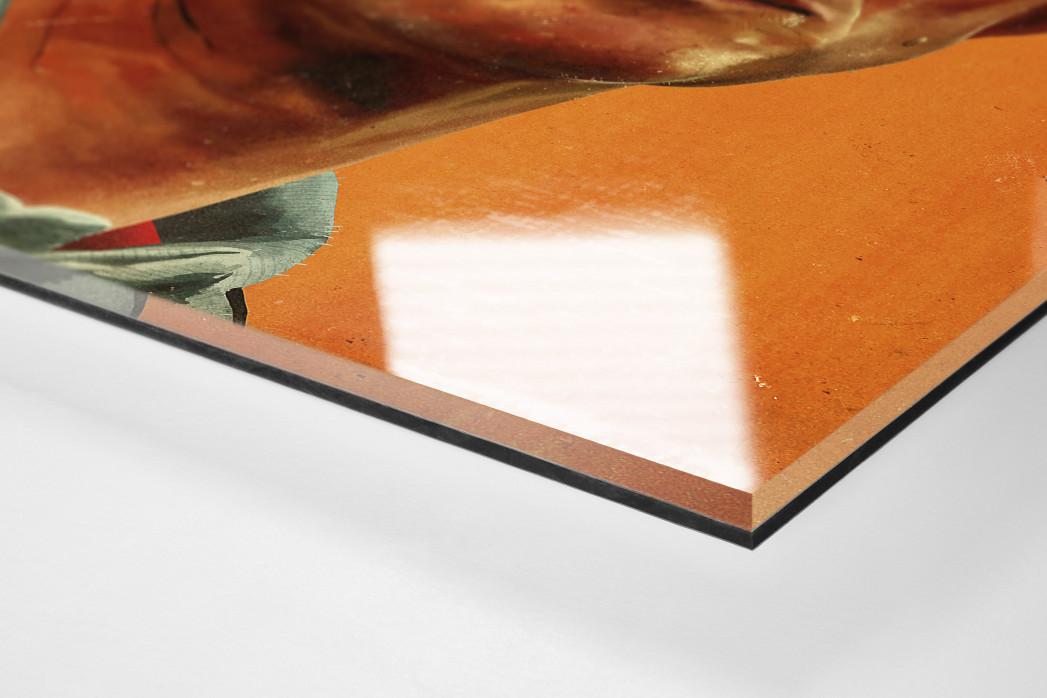 Jupp Heynckes  als Direktdruck auf Alu-Dibond hinter Acrylglas (Detail)